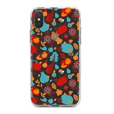 Lopard iPhone Xs Max Kılıf Silikon Arka Koruma Kapak Mutlu Karakterler Desenli Renkli